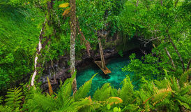 To Sua ocean trench - famous swimming hole, Upolu, Samoa Royalty Free Stock Image