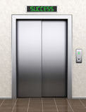 To success concept. Modern elevator with closed doors Stock Images