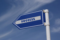 to success road sign. Royalty Free Stock Images