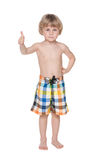To swim very healthy. A cute little boy getting ready for swimming royalty free stock photography