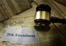 25to título de la enmienda en la constitución de los E.E.U.U. foto de archivo libre de regalías