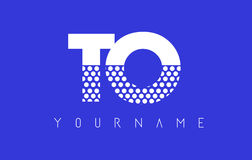 TO T O Dotted Letter Logo Design with Blue Background. Royalty Free Stock Photos
