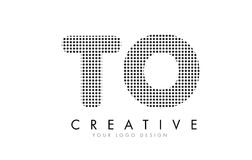 TO T O Letter Logo with Black Dots and Trails. Royalty Free Stock Photos