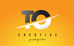TO T O Letter Modern Logo Design with Yellow Background and Swoo Stock Images
