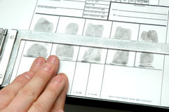 To take the fingerprints Stock Images