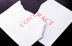 To terminate the contract Royalty Free Stock Photography