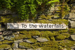 To The Waterfalls Royalty Free Stock Photos