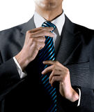 To tie one's tie Royalty Free Stock Photos