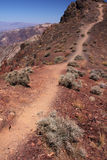 To the top. Mountain path going all the way to the top (Death Valley national park, California Royalty Free Stock Photography