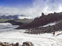 To the top of Elbrus Stock Photography