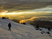 To the top of Elbrus Royalty Free Stock Images
