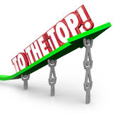 To the Top Team Lifting Arrow Rising Winning Goal Stock Photography