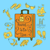 To travel is  live. Royalty Free Stock Photo