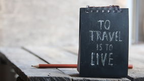 To travel is to live stock video footage