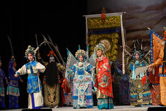 """To turn out in full strength- Beijing Opera"""" Women Generals of Yang Family"""". This opera tells a patriotic story how does an old woman of a hundred Stock Image"""