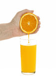 To wring orange juice Royalty Free Stock Photos