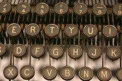 From A to Z. Old typewriter royalty free stock photography