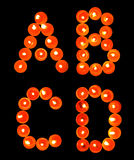 A to Z, Isolated Candle light alphabet series Stock Photo