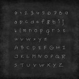 A to Z and numbers 0 to 9. On chalkboard Royalty Free Stock Images