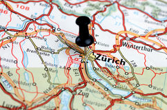 To Zurich on football. Royalty Free Stock Image