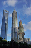 The to3 highest skyscrapers in Shanghai Stock Photography