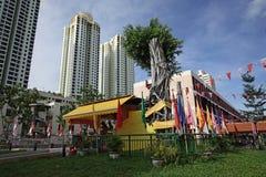Toa Payoh镇,新加坡中心区域视图  免版税库存照片