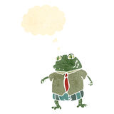 Toad boss retro cartoon Stock Photos