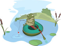 Toad the fisher Royalty Free Stock Image