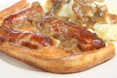 Toad in the Hole Royalty Free Stock Photography
