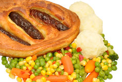 Toad In The Hole Meal Royalty Free Stock Image