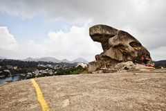 Toad Rock on a hill at Mount Abu, Sirohi District, Rajasthan, Indi. Toad Rock on a hill, Mount Abu, Sirohi District, Rajasthan, India Stock Images
