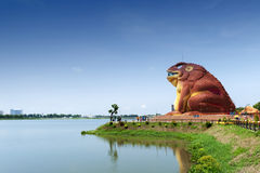 A toad-shaped building of Phaya Khan Khak The Toad King Museum, Yasothon, Thailand. Yasothon, Thailand - May 2017: A toad-shaped building of Phaya Khan Khak The Stock Photography