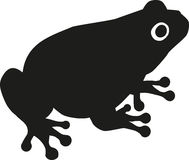 Toad Silhouette. Silhouette of a fat Toad Royalty Free Stock Photo