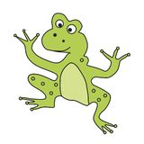 Toad. Thick and eradicated toad. Vector format royalty free illustration