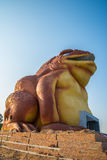 Toads. The large toads on the riverside. statue Stock Images