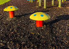 Toadstool Park Bench stools Royalty Free Stock Images