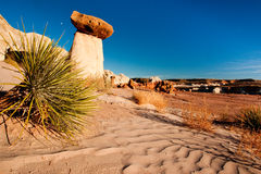 Toadstool Hoodoo. Eroded Sandstone Formation Resembling a Toadstool Like Hoodoo royalty free stock photo
