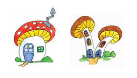 Toadstool houses Royalty Free Stock Photography