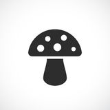 Toadstool mushroom vector icon. Illustration Stock Images