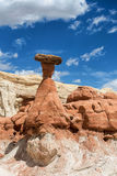 Toadstool rock formations, Utah. Toadstool rock formations along highway 89 between Page, AZ and Kabab, UT Stock Image