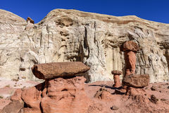 Toadstool Trail in Utah north of Page. Grand Staircase Escalante National Mon. Royalty Free Stock Images