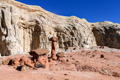 Toadstool Trail in Utah north of Page. Grand Staircase Escalante National Mon. Royalty Free Stock Photos