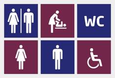 Toalet ikony ustawiać Zdjęcie Royalty Free