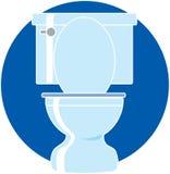 toaleta royalty ilustracja