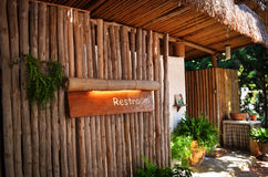 Toaleta bambus Zdjęcia Royalty Free