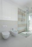 Toaleta, bidet, prysznic fotografia stock