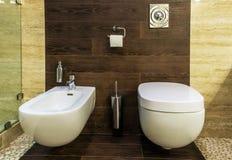 Toaleta i bidet Zdjęcia Stock