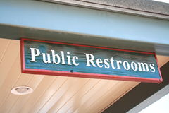 toaleta jawny znak Fotografia Stock