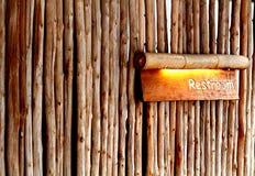 Drewniany toaleta kierunek Obraz Royalty Free