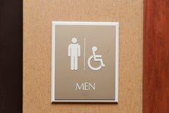 Toaleta mężczyzna znak i upośledzający Zdjęcia Stock